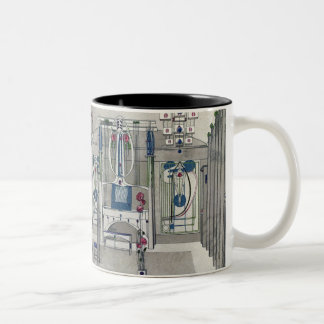 Design for a Music Room with panels by Margaret Ma Two-Tone Coffee Mug