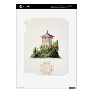 Design for a pavilion in simplified oriental style decal for iPad 3