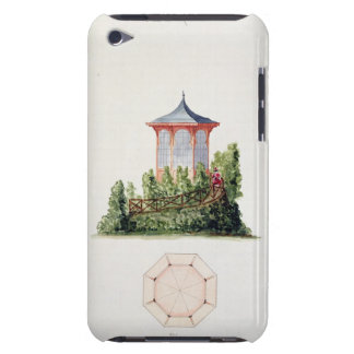 Design for a pavilion in simplified oriental style iPod touch cover