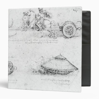 Design for a scythed chariot and armoured car 3 ring binder