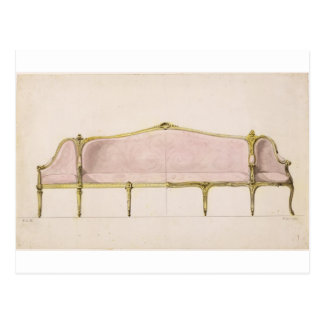 Design for a Settee Postcard