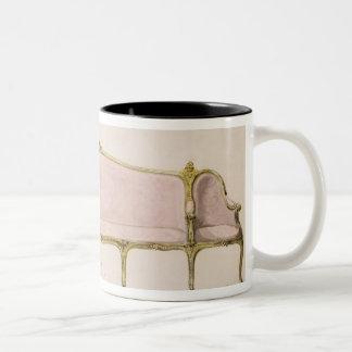 Design for a Settee Two-Tone Coffee Mug