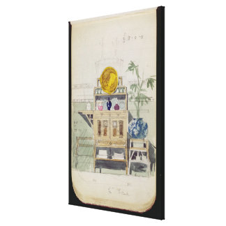 Design for a Sideboard, c.1860s-70s (w/c & pencil Canvas Print