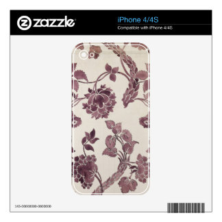 Design for a silk damask, 1752 (pencil and w/c on decal for the iPhone 4S