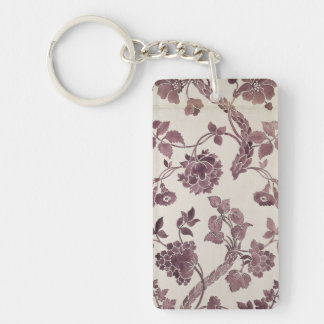 Design for a silk damask, 1752 (pencil and w/c on rectangle acrylic key chain