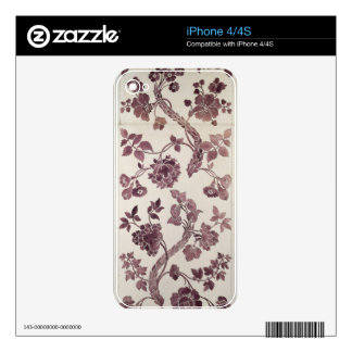 Design for a silk damask, 1752 (pencil and w/c on skin for iPhone 4S