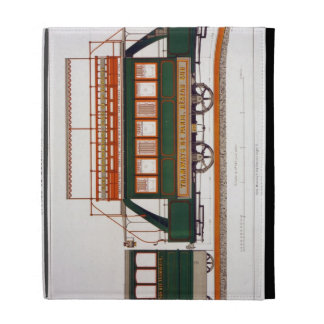 Design for a Steam Tram, plate 126 from 'The Indus iPad Folio Cover