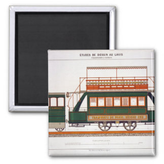 Design for a Steam Tram, plate 126 from 'The Indus 2 Inch Square Magnet