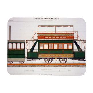 Design for a Steam Tram, plate 126 from 'The Indus Rectangular Photo Magnet