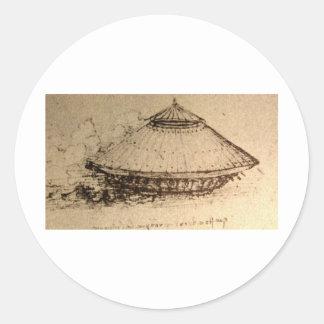 Design for a tank classic round sticker