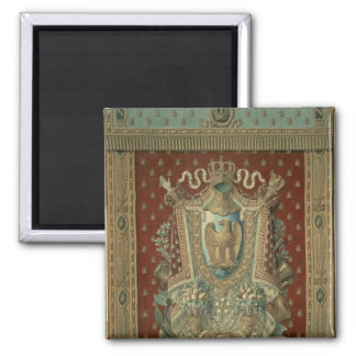 Design for a tapestry in Bonaparte's study 2 Inch Square Magnet
