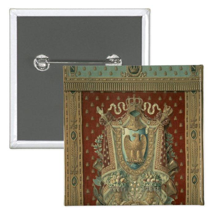 Design for a tapestry in Bonaparte's study Pinback Button