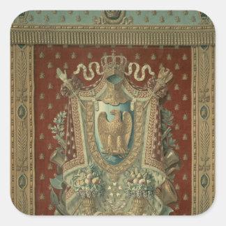 Design for a tapestry in Bonaparte's study Square Sticker