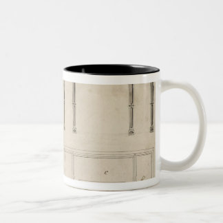Design for a Writing Table (pen and ink with grey Two-Tone Coffee Mug