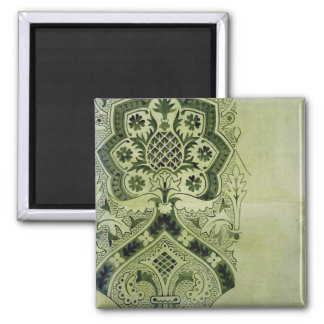 Design for an Ecclesiastical wallpaper print (ink 2 Inch Square Magnet
