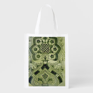 Design for an Ecclesiastical wallpaper print (ink Reusable Grocery Bag