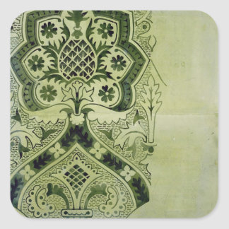Design for an Ecclesiastical wallpaper print (ink Square Sticker