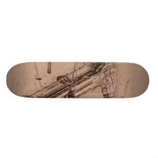 Design for an enormous crossbow skateboard deck
