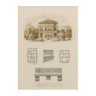 Design for an Estate with Interior Plans Acrylic Print