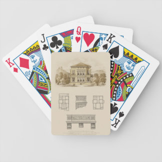 Design for an Estate with Interior Plans Bicycle Playing Cards