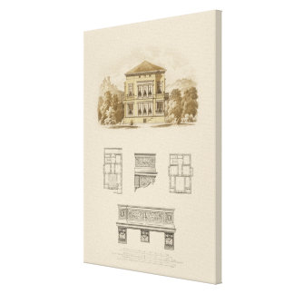Design for an Estate with Interior Plans Canvas Print