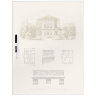Design for an Estate with Interior Plans Dry Erase Board