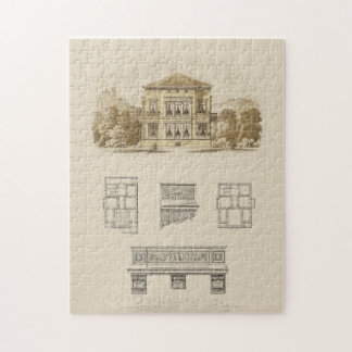 Design for an Estate with Interior Plans Jigsaw Puzzle