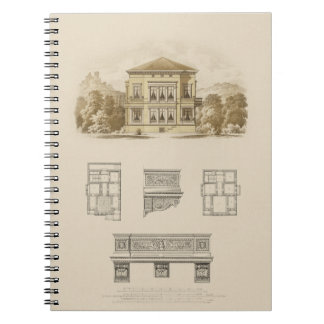 Design for an Estate with Interior Plans Spiral Notebook