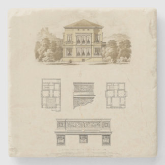 Design for an Estate with Interior Plans Stone Coaster