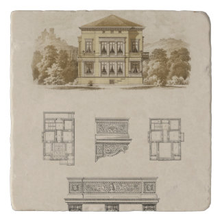 Design for an Estate with Interior Plans Trivet