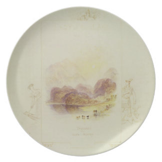 Design for an illustration for Walter Scott's 'Lad Party Plate