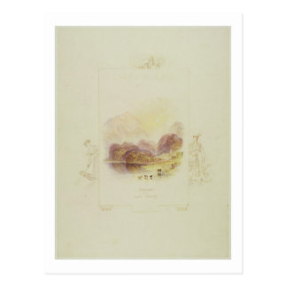 Design for an illustration for Walter Scott's 'Lad Postcard