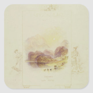 Design for an illustration for Walter Scott's 'Lad Square Sticker