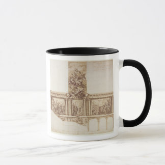 Design for Ceiling Walls and Staircase (pen, brown Mug
