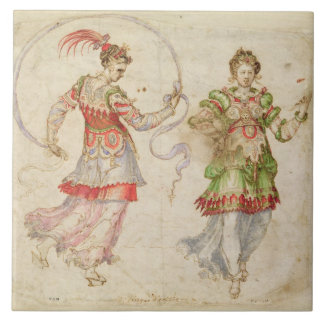 Design for Costumes, probably in the Florentine In Ceramic Tile