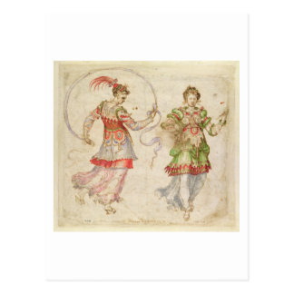 Design for Costumes, probably in the Florentine In Postcard