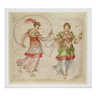 Design for Costumes, probably in the Florentine In Posters