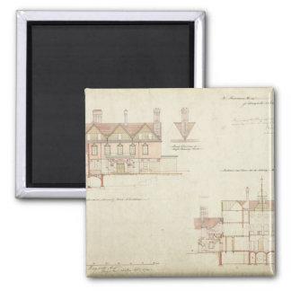Design for Joldwyns, Surrey, 1872 (pen & ink and w Magnet
