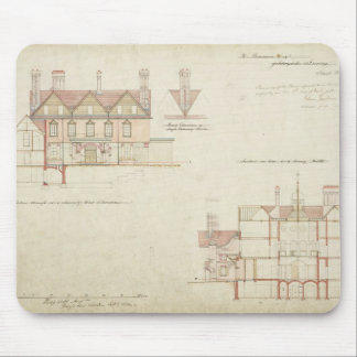 Design for Joldwyns, Surrey, 1872 (pen & ink and w Mouse Pad