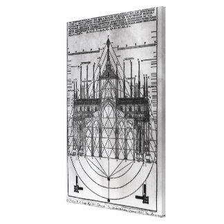 Design for Milan Cathedral Canvas Print