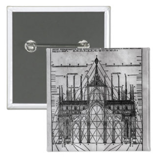 Design for Milan Cathedral Pinback Button