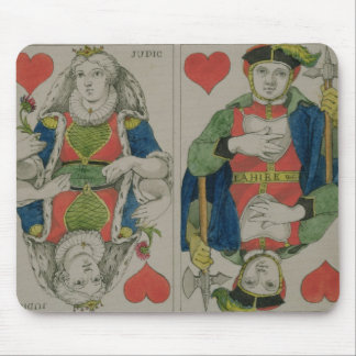 Design for playing cards, c.1810 mouse pad