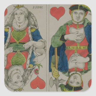 Design for playing cards, c.1810 square sticker