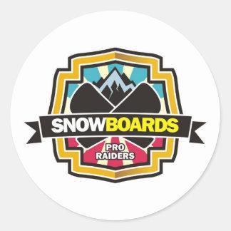 Design for Raider Snowboarding Classic Round Sticker