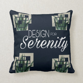 Design for Serenity Throw pillow Outdoors 16 x 16