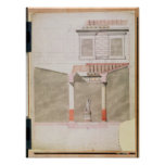 Design for the atrium of the Pompeiian palace Posters