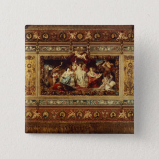 Design for the curtain at the Dresden opera Pinback Button