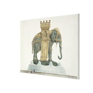 Design for the Elephant Fountain Gallery Wrapped Canvas