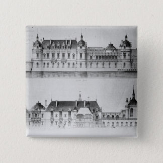 Design for the reconstruction of the north facade button