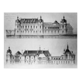 Design for the reconstruction of the north facade postcard